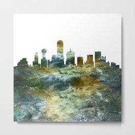 Dallas Skyline Texas Metal Print