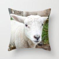 lamb Throw Pillows featuring lamb by Marcel Derweduwen