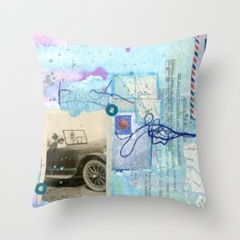 a day by the sea Throw Pillow