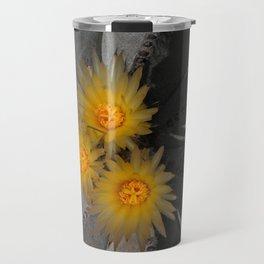 Barrel Cactus Flowers Travel Mug