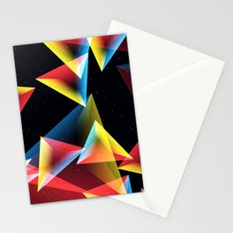 Geometry In Space Stationery Cards