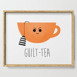 Guilt-tea Serving Tray