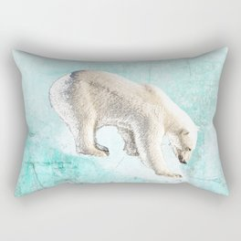 Polar bear on thin ice Rectangular Pillow