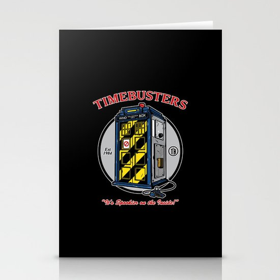 Timebusters Stationery Cards