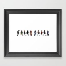 CIVIL WAR Pixels Framed Art Print