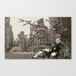 two piece shoot out in neo tokyo... by rmd Canvas Print