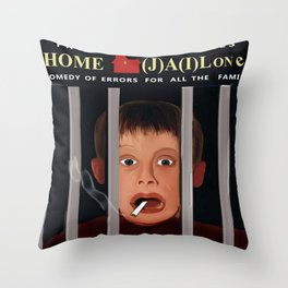 Home (J)A(i)lone Throw Pillow