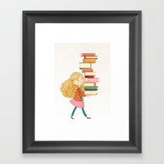 Library Girl 2 Framed Art Print
