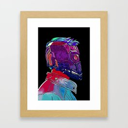 Star Lord Guardians of the Galaxy Avenger Infinity War Painting - Star-Lord Framed Art Print