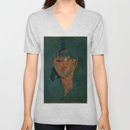 "Amedeo Modigliani ""Red Head (Tête rouge)"" Unisex V-Neck"