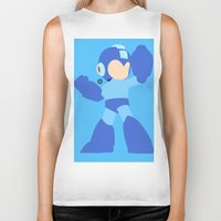 mega man Biker Tanks featuring Mega Man(Smash)Black by ejgomez
