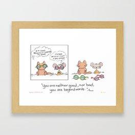 Good or Bad  Framed Art Print