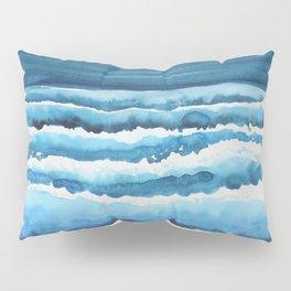 Watercolour waves crashing on the shore Pillow Sham
