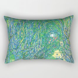 Gustav Klimt - Allee im Park von Schloss Kammer (new editing) Rectangular Pillow