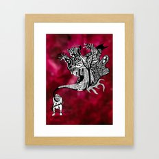 Scary Thoughts Framed Art Print