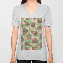 Alien Crystals Pattern #2 - Pistachio and chocolate crumbs Unisex V-Neck