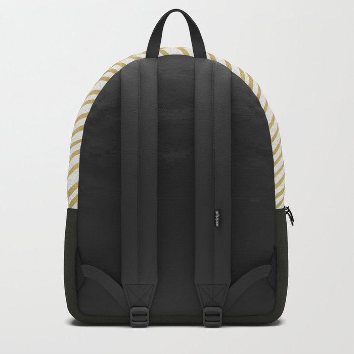 Gold Herringbone Backpack