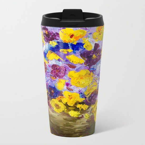 Bouquet of flowers Metal Travel Mug