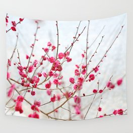 Beautiful Cherry Blossoms at the Imperial Palace in Kyoto, Japan Wall Tapestry