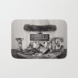 Paniolo Love in Black and White Bath Mat
