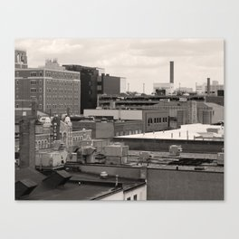 Ann Arbor City Roofs Canvas Print