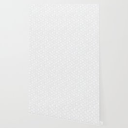 Modern Minimal Hexagon Pattern in Silver Gray and White Wallpaper