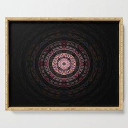 Mimimalist Embroidery Mandala Serving Tray