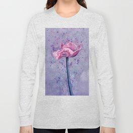 Lavender Floral Long Sleeve T-shirt