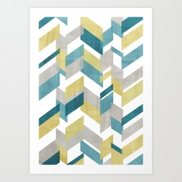 Bright geometrical pattern Art Print