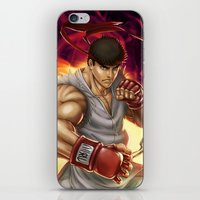 street fighter iPhone & iPod Skins featuring Ryu Street Fighter by RoPerez