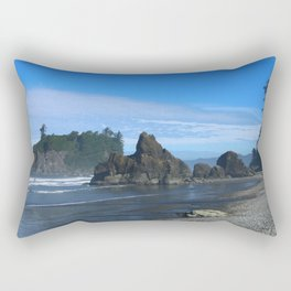 Morning At Ruby Beach Rectangular Pillow