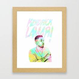 KENDRICK LAMAR-pastel Framed Art Print