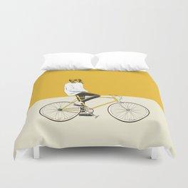 The Yellow Bike Duvet Cover