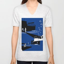 Houseboat Unisex V-Neck