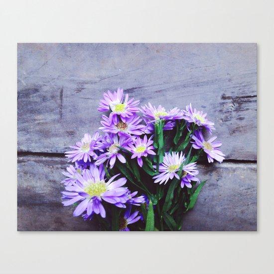 Pretty Blue Flowers Canvas Print