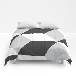 Cubism Black and White Comforters