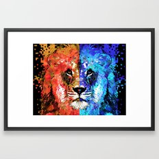 Lion Art - Majesty - Sharon Cummings Framed Art Print