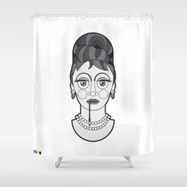 Audrey Hepburn - B&W Divas Shower Curtain