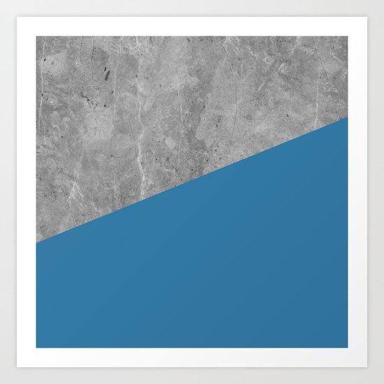 Geometry 101 Saltwater Taffy Teal Art Print