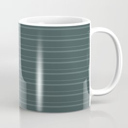 Juniper Berry Green PPG1145-6 Horizontal Stripes Pattern 3 on Night Watch PPG1145-7 Coffee Mug