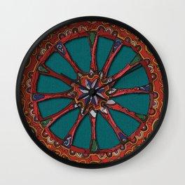 Ruota carretto siciliano Wall Clock