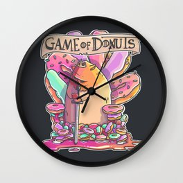 Game of Donuts Wall Clock