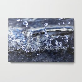 Macro Waves Metal Print