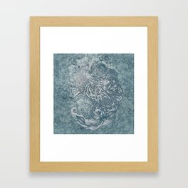 Fifth Mix Blue Framed Art Print