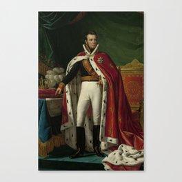 Portrait of William I, King of the Netherlands, Joseph Paelinck, 1819 Canvas Print