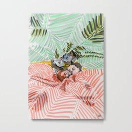 Ying Yang Couple in Bed Metal Print