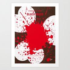 No471 My Black Mass minimal movie poster Art Print