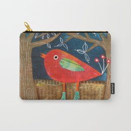 Red Bird in Galoshes Carry-All Pouch