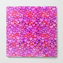 Heart Pattern 08 Metal Print