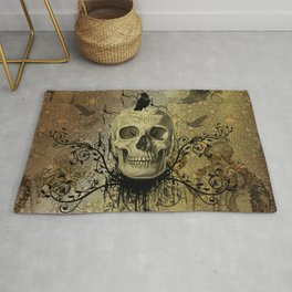 Skull and crow Rug